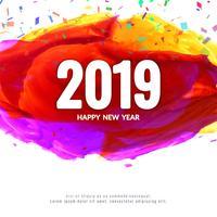 Resumo de ano novo 2019 design de plano de fundo vetor