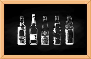 conjunto de vetores de garrafas de cerveja