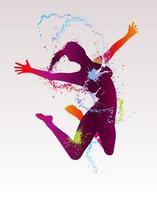 ilustração vetorial de dançarina vetor