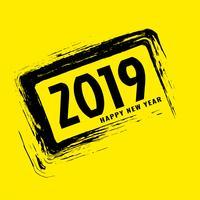 Fundo bonito feliz ano novo de 2019 vetor
