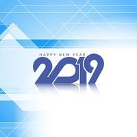 Elegante ano novo 2019 fundo decorativo vetor