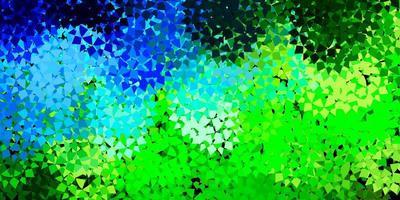 fundo vector azul claro verde com formas poligonais