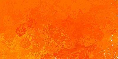 textura vetorial laranja-escura com triângulos aleatórios vetor