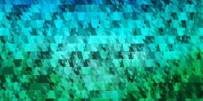 textura vector azul claro verde com linhas triângulos