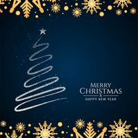 Fundo de árvore decorativa abstrata feliz Natal vetor