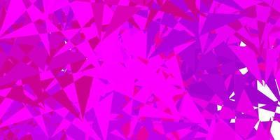 pano de fundo vector roxo escuro com linhas de triângulos