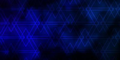 modelo de vetor azul escuro com triângulos de cristais