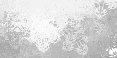 textura vetorial cinza claro com triângulos aleatórios vetor