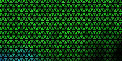 textura de vetor multicolorido escuro com estilo triangular