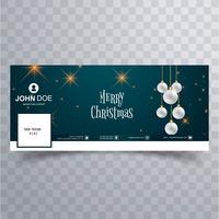 Feliz Natal bola facebook banner modelo fundo vetor