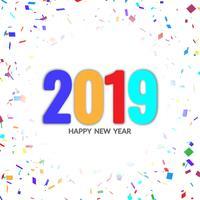 Abstrato feliz ano novo 2019 elegante fundo vetor