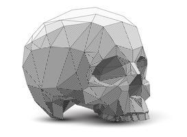 Desenho 3D poligonal. vetor