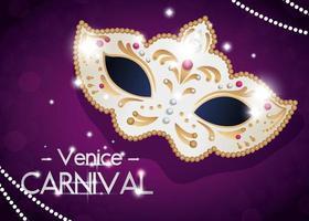 pôster do carnaval de Veneza com máscara vetor