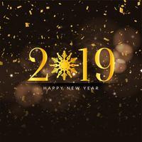 Abstrato feliz ano novo 2019 fundo colorido vetor