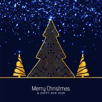 Resumo feliz fundo de brilhos de Natal vetor