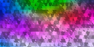 modelo de vetor vermelho azul claro com triângulos de cristais