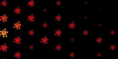 modelo de vetor laranja escuro com sinais de gripe