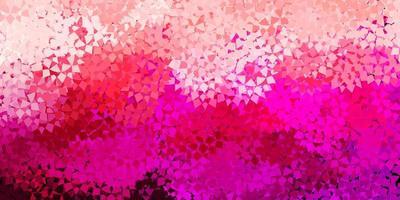 padrão de vetor rosa claro com formas poligonais