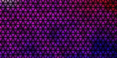 layout de vetor rosa roxo claro com linhas e triângulos