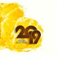 Resumo novo ano 2019 fundo bonito vetor
