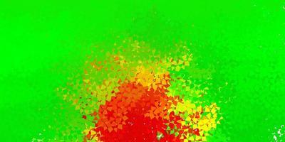fundo vector vermelho verde claro com triângulos
