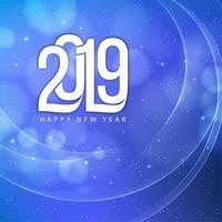 Feliz ano novo 2019 fundo de saudação