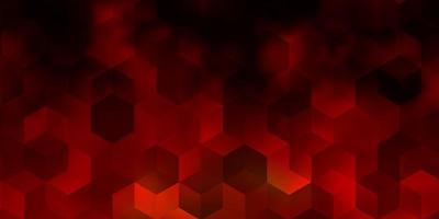 layout de vetor laranja claro com formas hexagonais