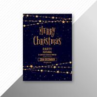Modelo de folheto de cartão de celebração feliz Natal vetor
