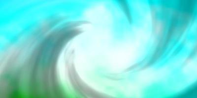 padrão de vetor azul claro verde com nuvens