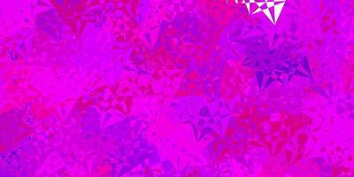 pano de fundo vector rosa claro com linhas de triângulos