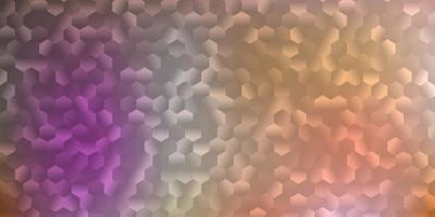 layout de vetor rosa claro com formas de hexágonos