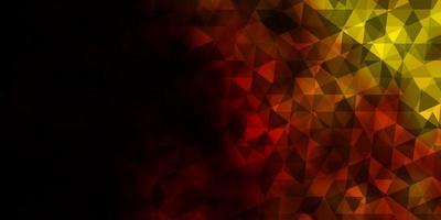 modelo de vetor vermelho-escuro amarelo com triângulos de cristais