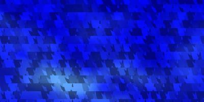 modelo de vetor azul claro com triângulos de cristais