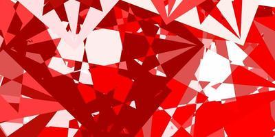 modelo de vetor vermelho-claro amarelo com formas de triângulo