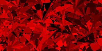 pano de fundo vector vermelho-escuro com linhas de triângulos