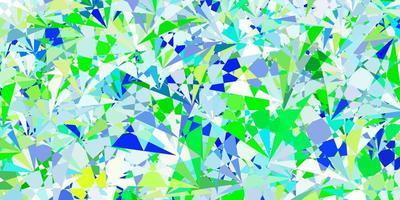 fundo vector azul claro verde com triângulos
