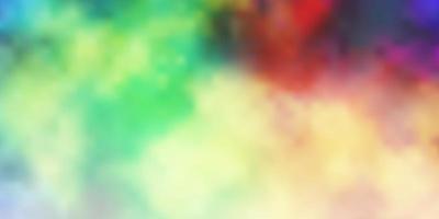 textura leve multicolorida com céu nublado vetor