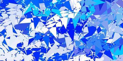 modelo de vetor azul claro com formas de triângulo