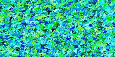 modelo de vetor azul claro verde com triângulos de cristais