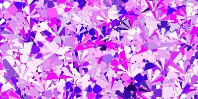 modelo de vetor rosa roxo claro com formas de triângulo