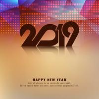 Resumo feliz ano novo 2019 moderno fundo vetor