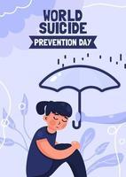 pôster do dia mundial da prevenção do suicídio vetor