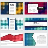 meio-tom Flyer estilo fundo modelo de Design vetor