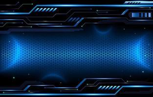 display futurístico de circuito espacial digital vetor
