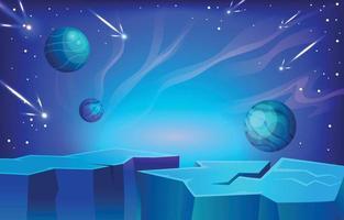 fundo da atmosfera do espaço vetor