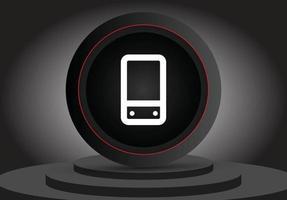ícone 3d de celular de mídia social vetor