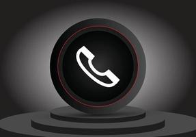 ícone 3d de chamada de mídia social vetor