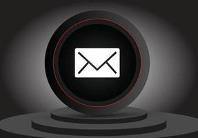 ícone 3d de e-mail de mídia social vetor