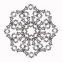 floral circular de mandala ornamento decorativo em estilo oriental desenho de mandala ornamental vetor
