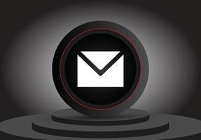 símbolo de e-mail 3D realista ícone 3D isolado vetor